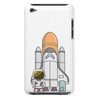 Kleiner Astronaut u. Raumschiff iPod Case-Mate Hüllen