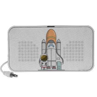 Kleiner Astronaut u. Raumschiff Laptop Speaker