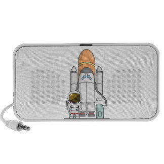 Kleiner Astronaut u. Raumschiff Mobiler Speaker