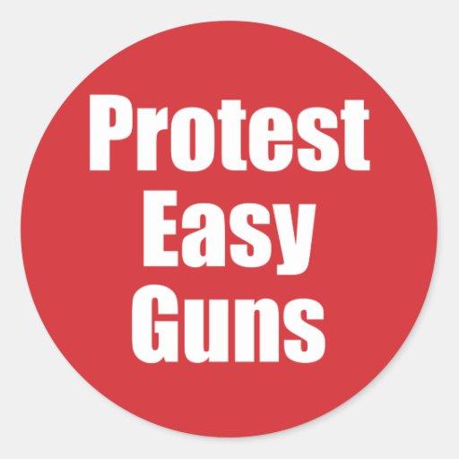 Kleiner Aufkleber - Protest-einfache Gewehre