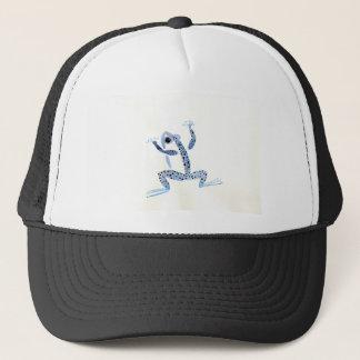 Kleiner blauer Frosch Truckerkappe