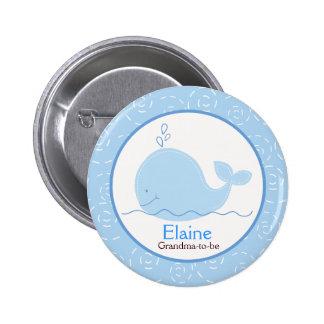 Kleiner Blauwal NAMENSSCHILD Gewohnheits-Knopf Runder Button 5,7 Cm