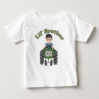 Kleiner Bruder-Grün-Traktor Baby T-shirt