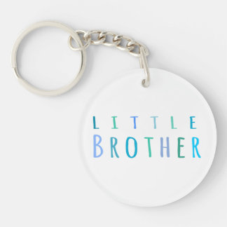 Kleiner Bruder im Blau Einseitiger Runder Acryl Schlüsselanhänger