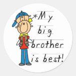 Kleiner Bruder-T - Shirts und Geschenke Runder Aufkleber