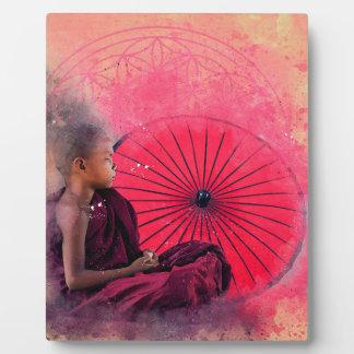 Kleiner Buddha-Junge Fotoplatte