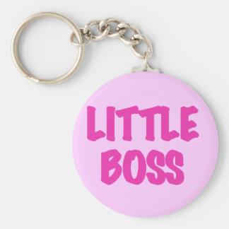 Kleiner Chef - rosa T-Shirts und Geschenke Standard Runder Schlüsselanhänger