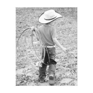 Kleiner Cowboy Leinwanddruck