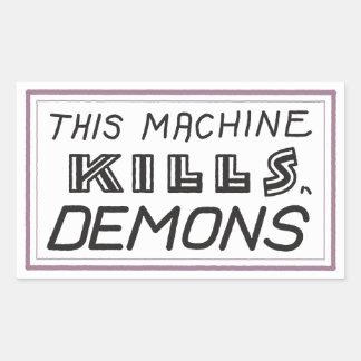 """Kleiner """"diese Maschine tötet Dämon"""" Aufkleber"""