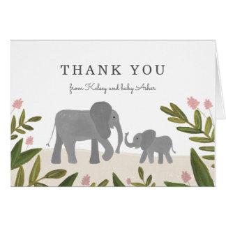 Kleiner Elefant danken Ihnen zu merken Karte
