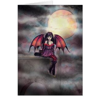 Kleiner gotischer Vampirs-feenhafte Grußkarte