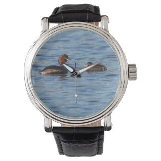 Kleiner Grebe und Küken Armbanduhr