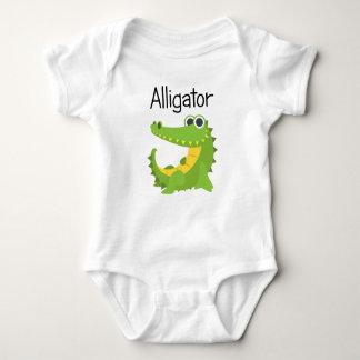 Kleiner grüner Alligator Baby Strampler
