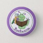 Kleiner grüner Bücherwurm Runder Button 5,1 Cm