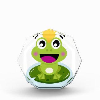 Kleiner grüner Frosch glücklich Auszeichnung