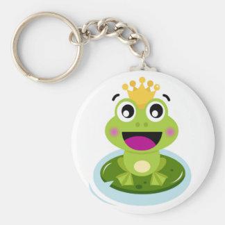 Kleiner grüner Frosch glücklich Schlüsselanhänger