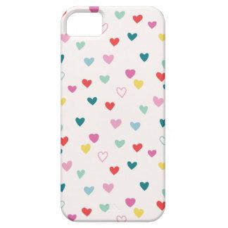 Kleiner Herz-Telefon-Kasten - aquamarines multi iPhone 5 Case