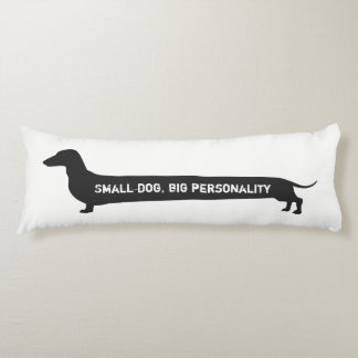 Kleiner Hund der lustigen Dackel, große Seitenschläferkissen