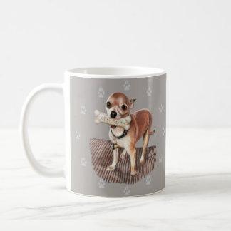 Kleiner Hund, großer Knochen Kaffeetasse