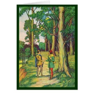 Kleiner John trifft Robin Hood Karte