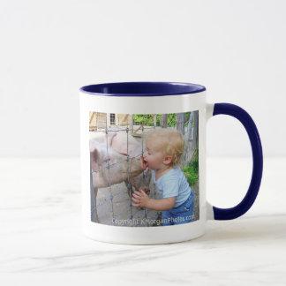 Kleiner Jungen-u. Schwein-Tasse Tasse