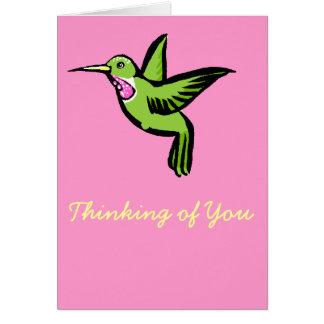 Kleiner Kolibri Karte