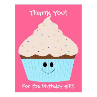 Kleiner Kuchen danken Ihnen Postkarte