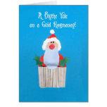 """Kleiner Kuchen der Schotten Weihnachtsmit Sankt"""" K Grußkarten"""