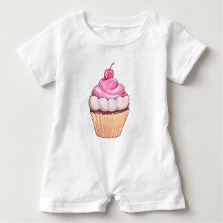 kleiner Kuchen des Mammas Kirsch Baby Strampler