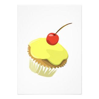 Kleiner Kuchen invitiation Gelb Personalisierte Einladung