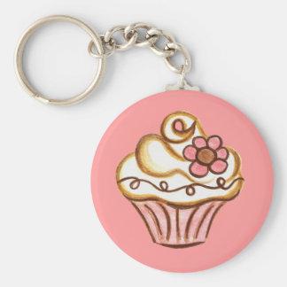 Kleiner Kuchen Keychain Standard Runder Schlüsselanhänger