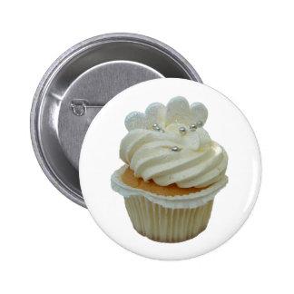 Kleiner Kuchen mit Herzen Runder Button 5,7 Cm
