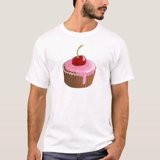 Kleiner Kuchen mit rosa Zuckergusse und Kirsche T-Shirt