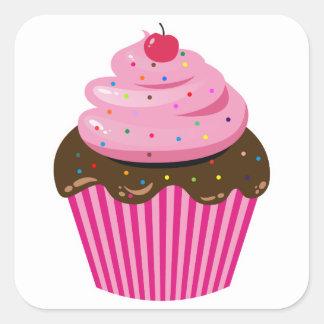 Kleiner Kuchen Quadratischer Aufkleber