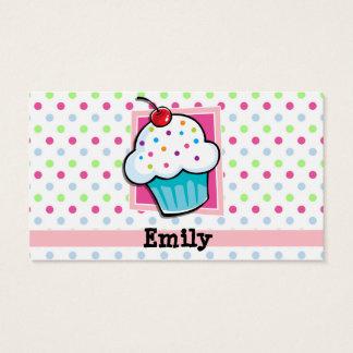 Kleiner Kuchen, Rosa, Blau, Grün, Tupfen Visitenkarte