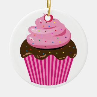 Kleiner Kuchen Rundes Keramik Ornament