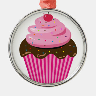 Kleiner Kuchen Silbernes Ornament