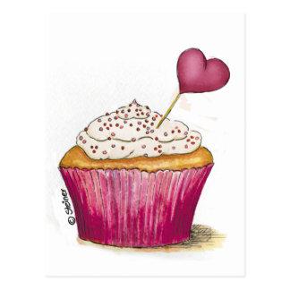Kleiner Kuchen - süßester Tag Postkarte