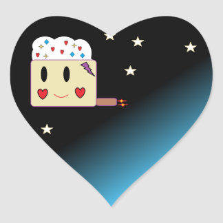 kleiner Kuchen vom Raum Herz-Aufkleber