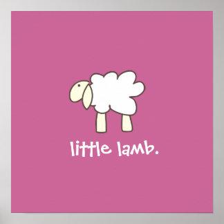 Kleiner Lammwanddruck (Rose) Poster