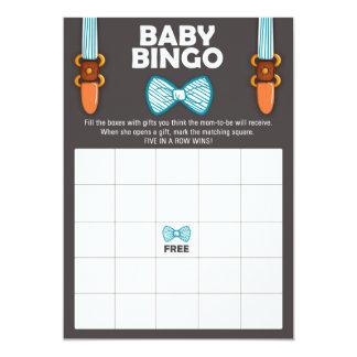 Kleiner Mann des Baby-Duschen-Bingo-Bogen-Krawatte Karte