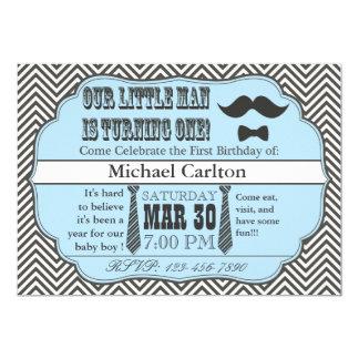 Kleiner Mann-erste Geburtstags-Einladungen 12,7 X 17,8 Cm Einladungskarte