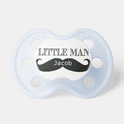Kleiner Manschnurrbart kundenspezifischer Schnulle Baby Schnuller