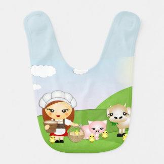 Kleiner Milkmaid Lätzchen