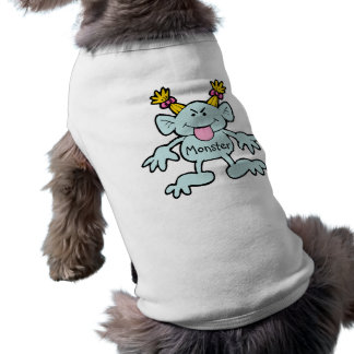 Kleiner Monster-Hundeshirt Ärmelfreies Hunde-Shirt
