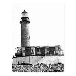 Kleiner Möven-Insel-Leuchtturm Postkarte