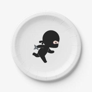 Kleiner Ninja Betrieb Pappteller