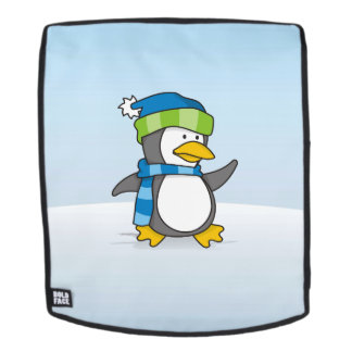 Kleiner Pinguin, der auf Schnee geht Rucksack