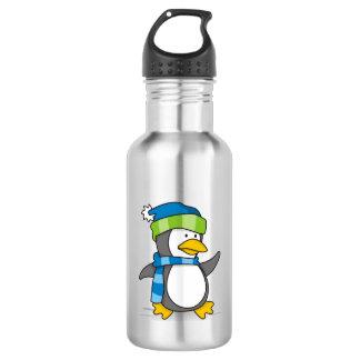 Kleiner Pinguin, der auf Schnee geht Trinkflasche