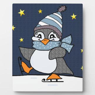 Kleiner Pinguin Fotoplatte